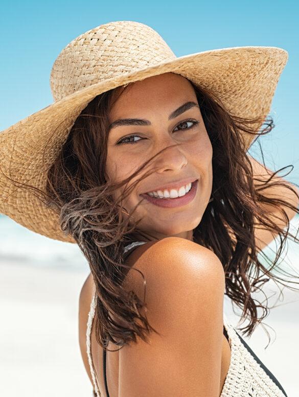 Carefree stylish woman enjoying summer