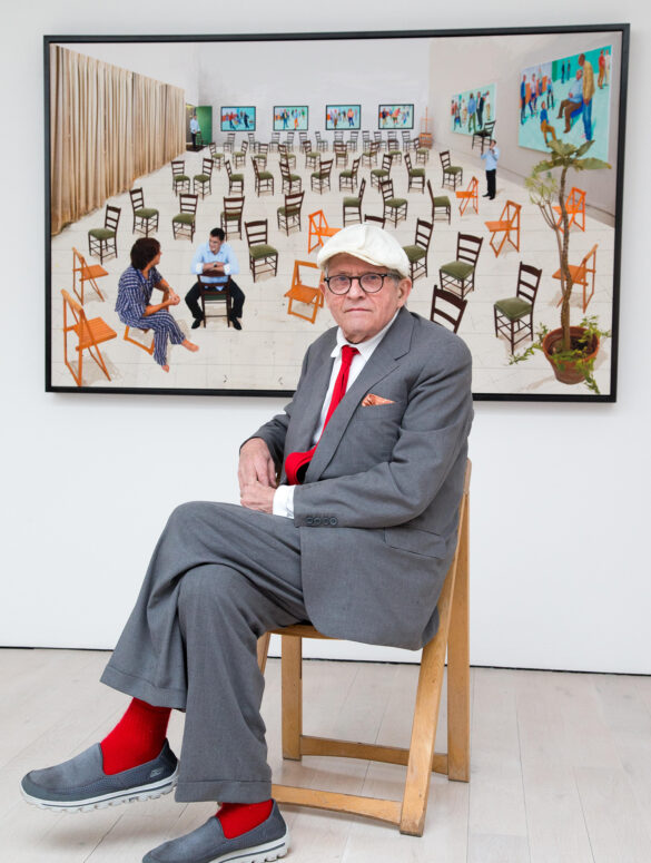 David Hockney at his new exhibition 'Painting and Photography' at the Annely Juda Fine Art gallery in London, Britain
